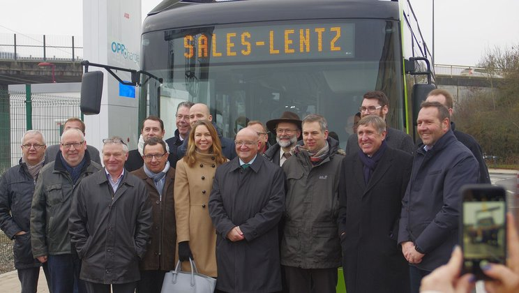 Inauguration of OppCharge electric bus system in Luxembourg