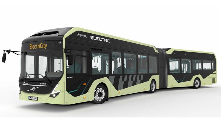 Electric articulated buses being tested in Gothenburg, Sweden – operations start in June