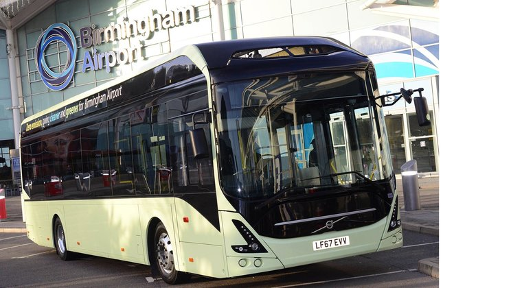 Birmingham And Dublin Airports To Go Electric With Volvo Buses
