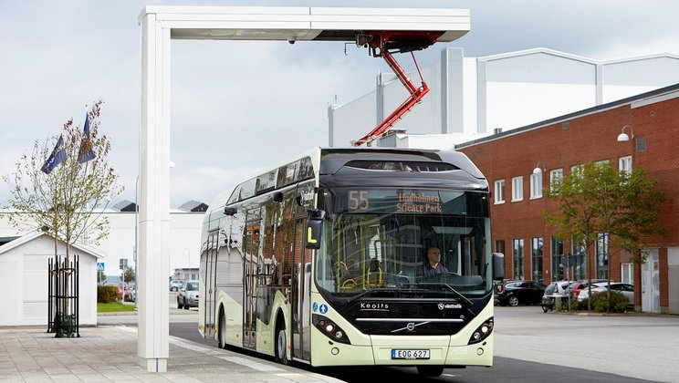 Volvo 7900 Electric Hybrid buses from the city of Värnamo in southern Sweden