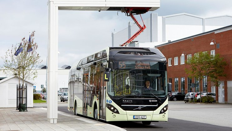 Volvo and ABB inaugurate charging station for electric buses based on OppCharge
