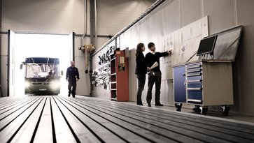 Volvo workshop and dealer