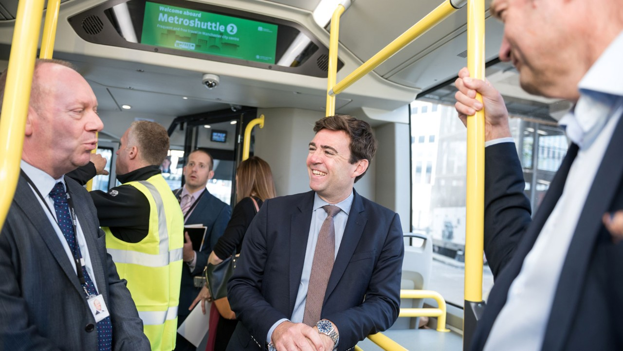 Mayoral approval as Volvo 7900e UK demonstration tour 'kicks off' with Transport for Greater Manchester
